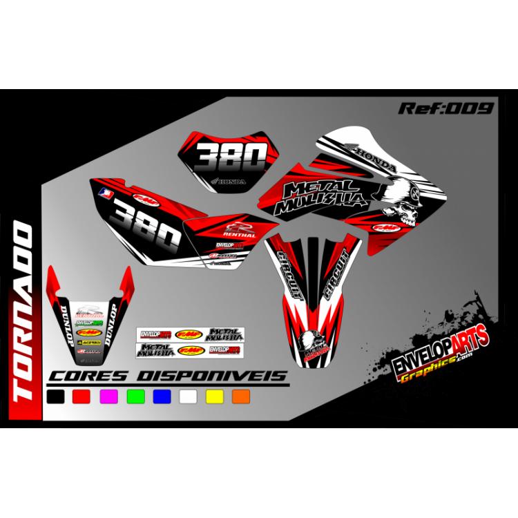 kit gráfico Honda tornado 250cc, completo, laminado