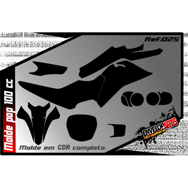 Molde Honda pop 100cc em CDR(Corel Draw) completo.