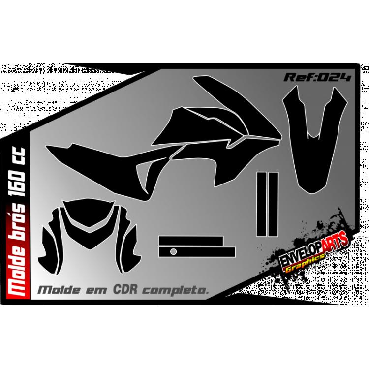 Molde Honda Brós 160cc em CDR(Corel Draw) completo.