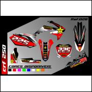 kit gráfico rockstar Honda crf 250cc, completo, laminado