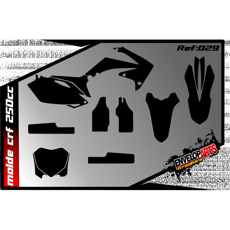 Molde Honda crf 250cc ano: 2010/11 em CDR(Corel Draw) completo.